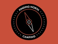 Camping Compass Badge