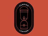 Camping Lantern Badge