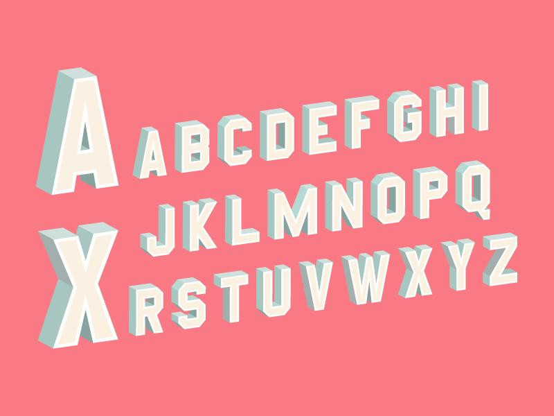3d Block Letters by Onur Cem on Dribbble