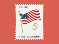 """Free """"Independence Day"""" Vector Stamp"""