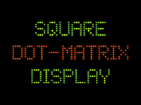 Square Dot-Matrix Display Font