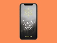 "Free PSD: Instagram ""Winter Sale"" Story Template"