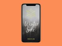 "Free Instagram ""Winter Sale"" Story PSD Template"