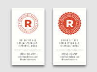 Free Business Card & Badge Vector Template Set