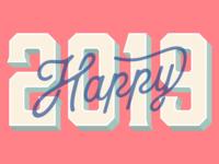 Happy 2019 New Year Card