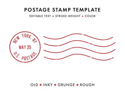 Postage Stamp Template Set