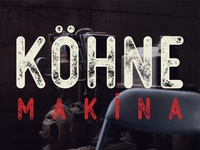 "Free ""Köhne Makina"" Textured Vector Font"