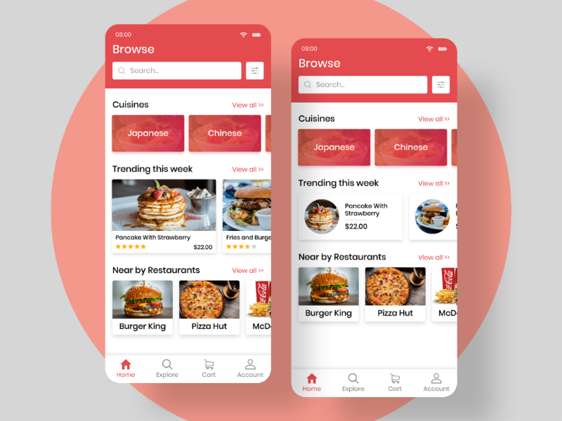 Foodway Home uiinspiration mobile interface graphicsdesigner graphics graphicdesign foodapp designinspiration dailyui application app minimal ios android mockups ui inspiration app design ux ui