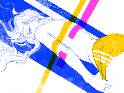 Like I've got 3 srtipes - poster illustration eroticillustration eroticdrawing nudity nudeart nude flatillustration adidas girldrawing girl lineardrawing poster procreatedrawing procreate femaledrawing female body design illustration