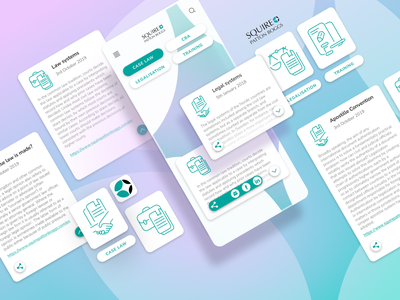 Squire Patton Boggs Mobile Law App - Design system elements interfacedesign mobile ui squire patton boggs productdesign system design digital drawing illustration vector illustration mobile app law app uidesign design app design mobile app development mobile application