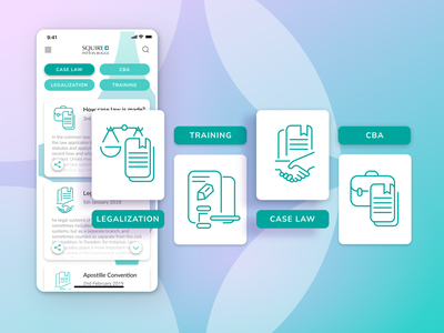 Squire Patton Boggs Mobile Law App - Illustrations interface illustration ui illustration mobile interface mobile law app law product iot interfacedesign mobile ui ui uiux productdesign product development law mobile app law app vector art drawing flat illustration vector illustration vector illustration