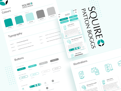 Squire Patton Boggs Mobile Law App - Design system law app illiustrations interfacedesign uiux mobile ui software house law mobile app uiux design mobile design productdesign product development design system