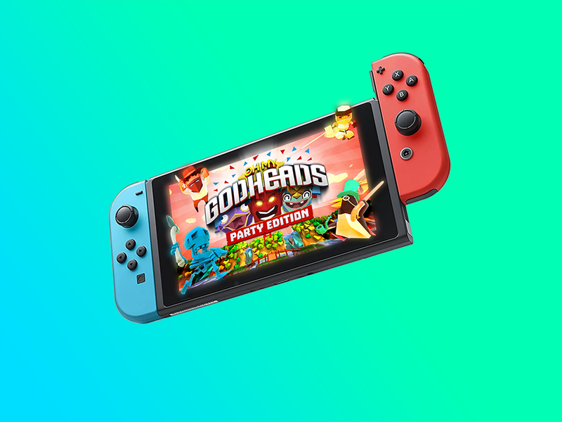 Oh My Godheads Switch Splash devices mockup graphic design design 3d art