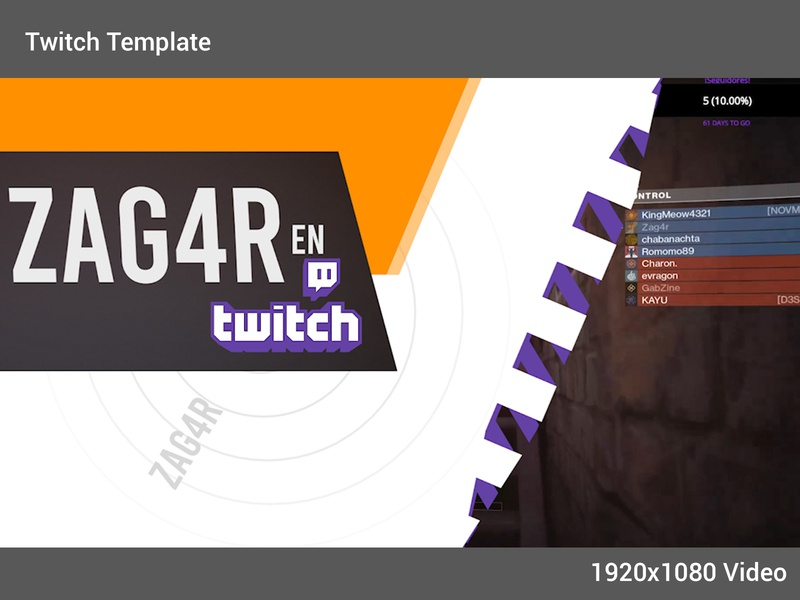 Dinamic Template for Twitch - Intro video vector twitch.tv motion graphic design animation aftereffects
