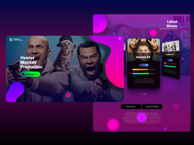 Comedy TV show Production vibrant-colors interaction-design