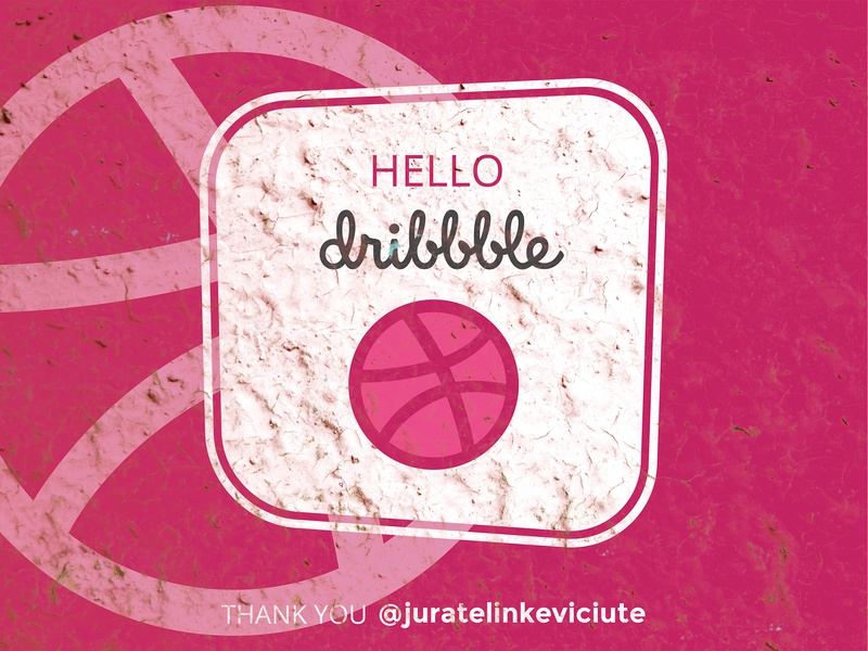 Hello Dribbble retro design dribbble shot shot dribbble illustration design creative