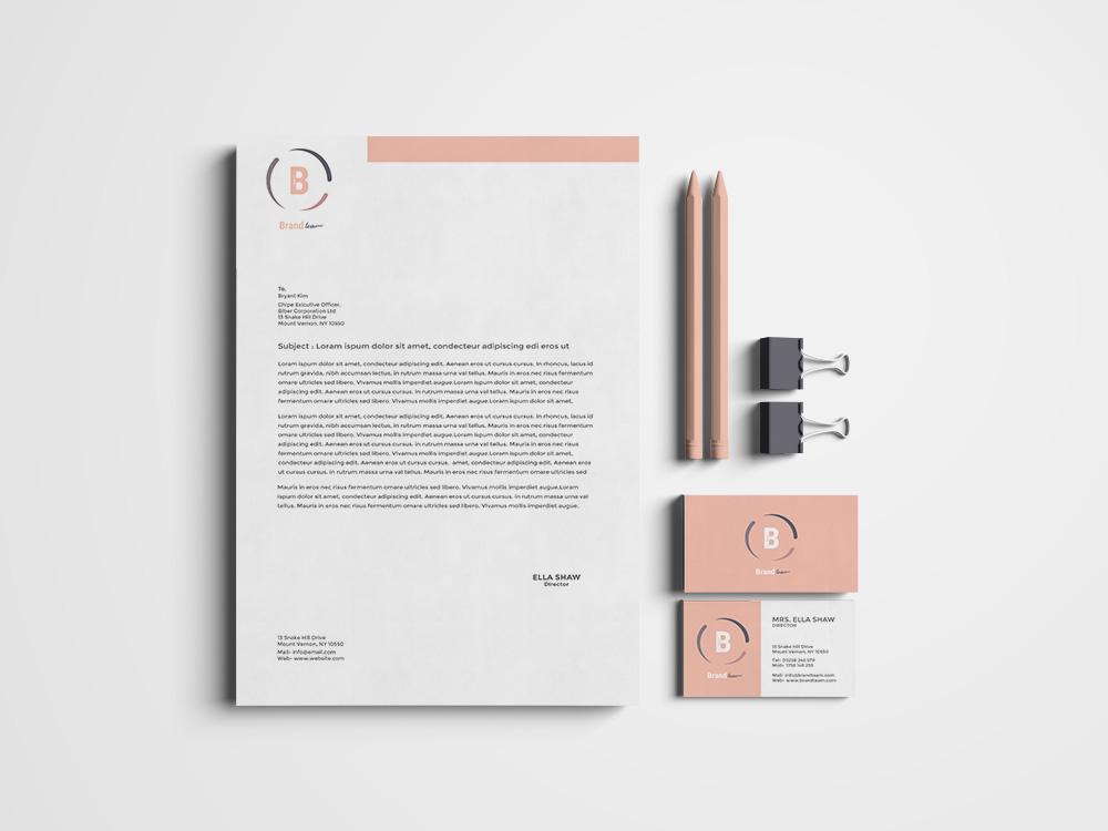 Corporate Identity Pack 3 variants - Brand Team company branding logo stationery design identity corporate branding corporate typography businesscard business branding template illustration elegant design creative