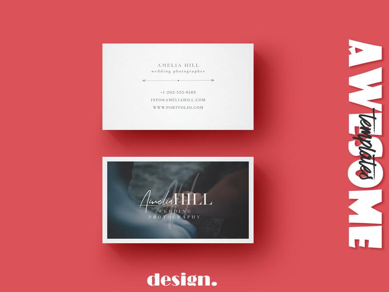 Business Card - Wedding Photography photography wedding card wedding company branding typography businesscard business branding template elegant design creative