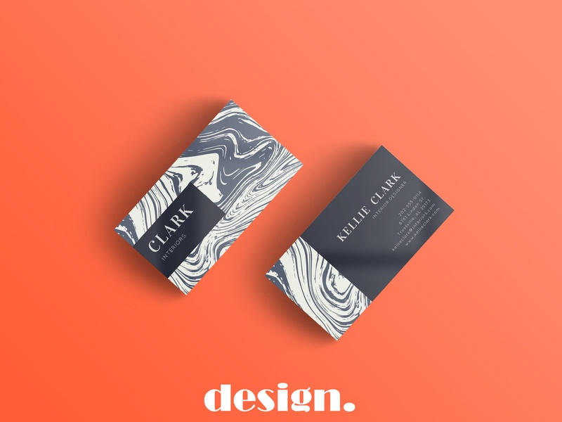 Marble Business Card Template marble card company branding typography businesscard business template elegant design creative