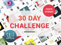 30 Day Challenge Instagram Posts & Stories