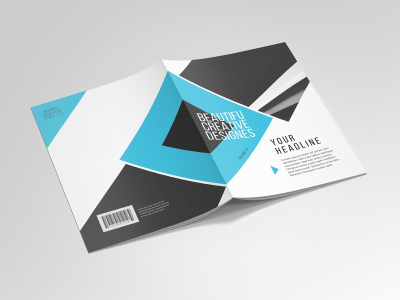 Business Brochure Template 01 clean company brochure project proposal anual report 4 pages brochure business brochure brochure template brochure