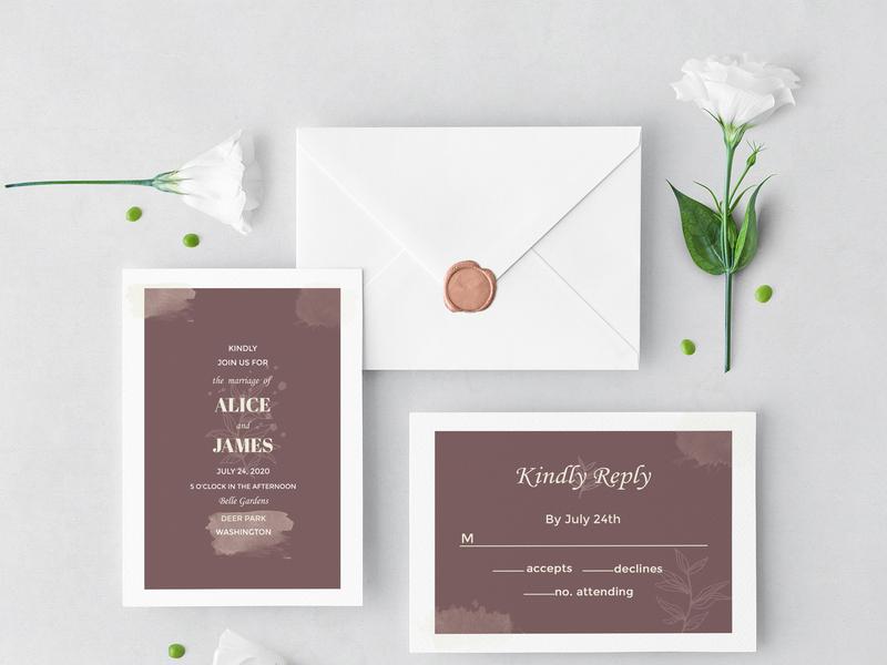 Elegant Wedding Set wedding design weddings wedding card weddingtemplate wedding invitation wedding invite invitation wedding