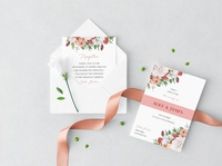 Gently Floral Wedding Set
