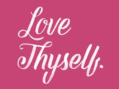 Love love lettering script valentine