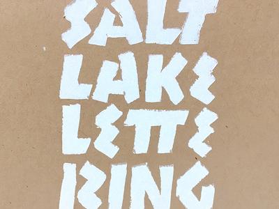 Salt Lake Lettering Club typography stencil salt lake salt lake city lettering