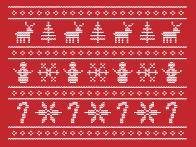 Ugly Christmas Sweater christmas holiday ugly sweater pattern