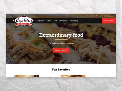 Capriotti's Sandwich Shop ux wordpress web design ui design ui