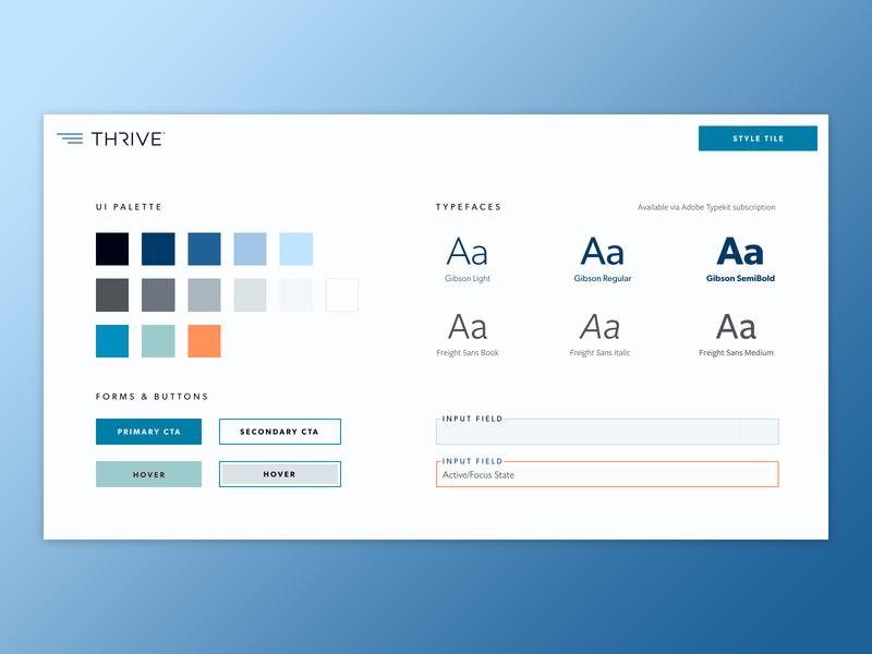 Thrive Aviation Style Tiles web design ui design ui