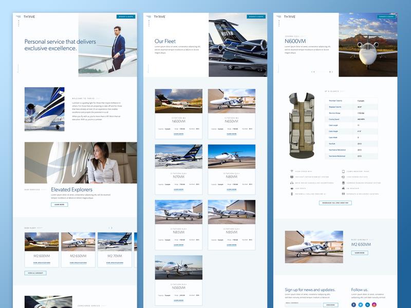 Thrive Desktop Comps wordpress web design ui design ui