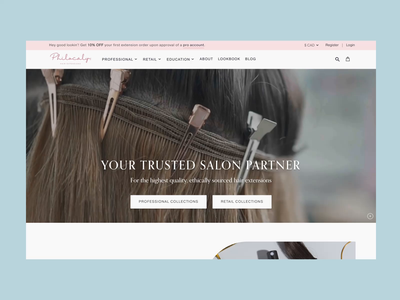Philocaly Hair Extensions ecommerce shopify ux design ux ui ui design