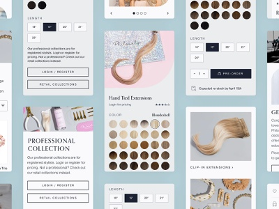 Philocaly - Mobile Components ecommerce shopify ux design ui design ux ui