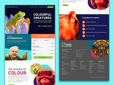 Natural History Museum Landing Page design ui