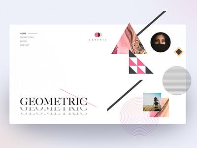 Generic website concept brutal clean ui clean collection lines woman fashion design geometric geometry fashion page landing fullpage promo website web concept ui matid design