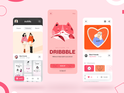 Dribbble app redesign concept app feed dunuk matvey ux redesign dribbble mobile app design mobile design mobile app mobile ui mobile concept ui matid design