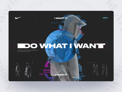 NIKE: Take It Collection concept future sport ux webdesign brutal glitch clothes collection nike fullpage landing promo website web concept ui matid design