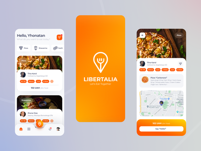 Libertalia food-party finder app friends map app map search colorful design conversation group party food and drink food app food mobile app design mobile design mobile app mobile ui mobile ui matid design