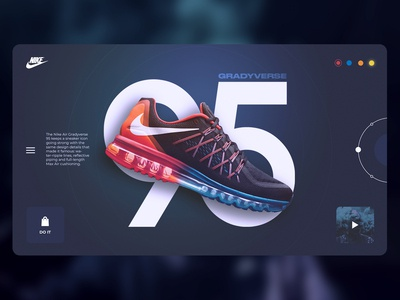 Nike Air Max Gradyverse website concept