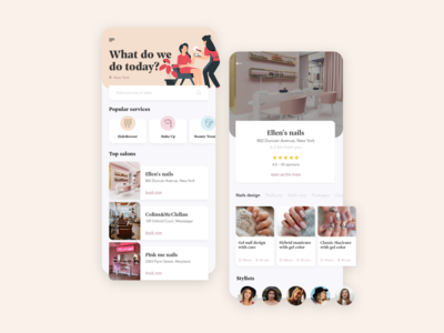 Beauty Booking - mobile app