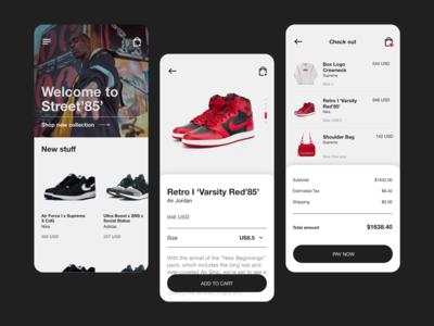 Streetwear shop - mobile app