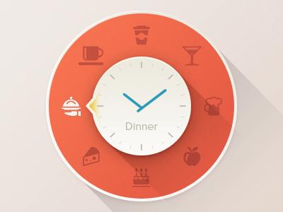 Reminder clock ui time icon vector widget