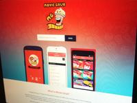 Movie Grub App Landing Page