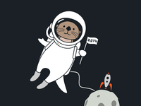 Otter Astronaut