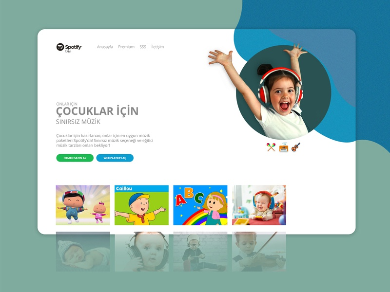 Spotify Child child theme main page songs child music song spotify music child