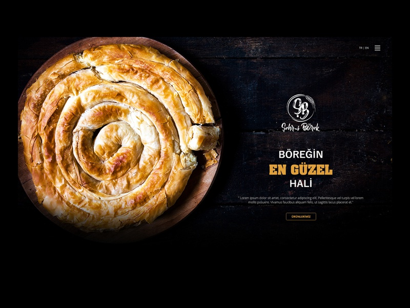 Bakery Website Introduction website company products gold black fresh patty bakery