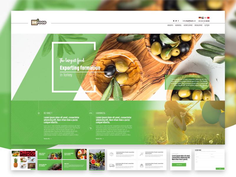 Fresh Design main page slider vegetables multipage export green fresh