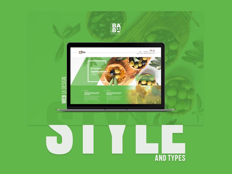 Exportation Company Web UI fonts style ui web design green fresh transport exportation export